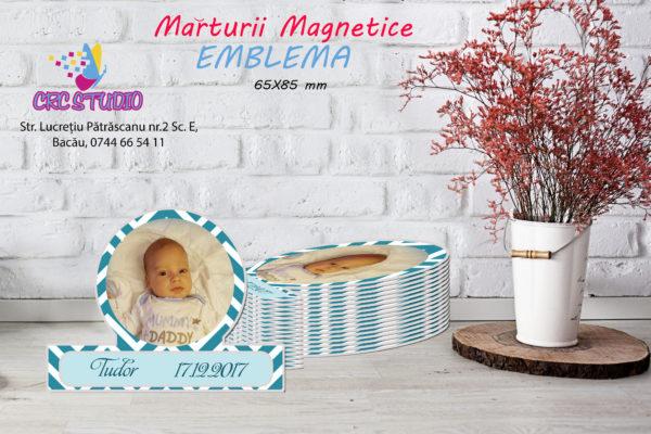 Emblema B 600x400 Marturie Magnetica Emblema Baiat fotomarturii-magnetice