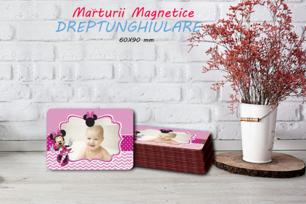 Minnie 001 600x400 Marturie Magnetica dreptunghiulara fetita - Minnie 001 fotomarturii-magnetice
