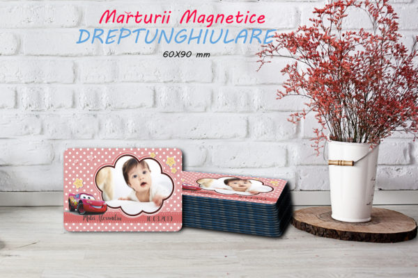 cars 001 600x400 Marturie Magnetica dreptunghiulara fetita - Masinute - Cars 001 fotomarturii-magnetice