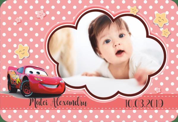 cars 001 600x413 Marturie Magnetica dreptunghiulara fetita - Masinute - Cars 001 fotomarturii-magnetice