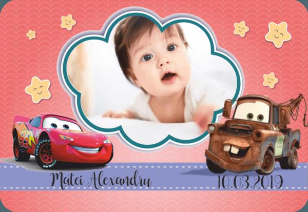 cars 006 600x413 Marturie Magnetica dreptunghiulara fetita - Masinute - Cars 004 fotomarturii-magnetice