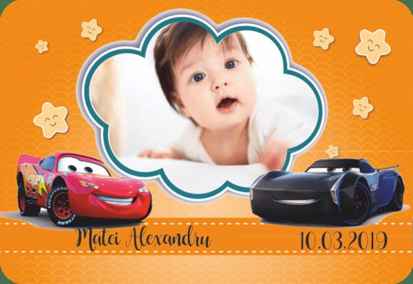 cars 007 600x413 Marturie Magnetica dreptunghiulara fetita - Masinute - Cars 005 fotomarturii-magnetice