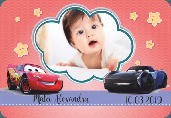 cars 008 600x413 Marturie Magnetica dreptunghiulara fetita - Masinute - Cars 006 fotomarturii-magnetice