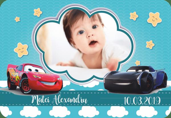 cars 009 600x413 Marturie Magnetica dreptunghiulara fetita - Masinute - Cars 009 fotomarturii-magnetice