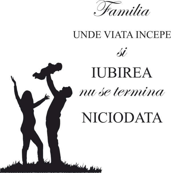 familia 600x607 Stickere decorative pentru pereti autocolante-perete-wall-stickers
