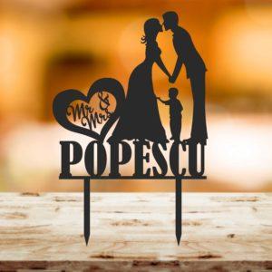 Top 111 Miri Nume baiat 02 300x300 Topper tort - Miri + baietel, Mr&Mrs nume familie, - 002 topper-tort-nunta