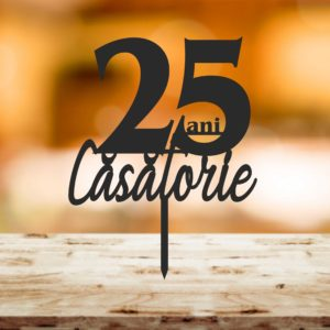 Top115 25 ani Casatorie 300x300 Topper tort - 25 ani Casatorie topper-tort-nunta