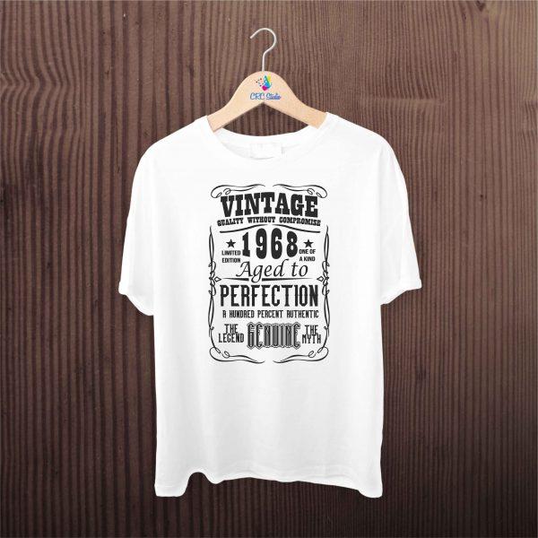 A002 Vintage Year Barbati Alb 600x600 Tricou Vintage Year tricouri-personalizate, tricouri-aniversare