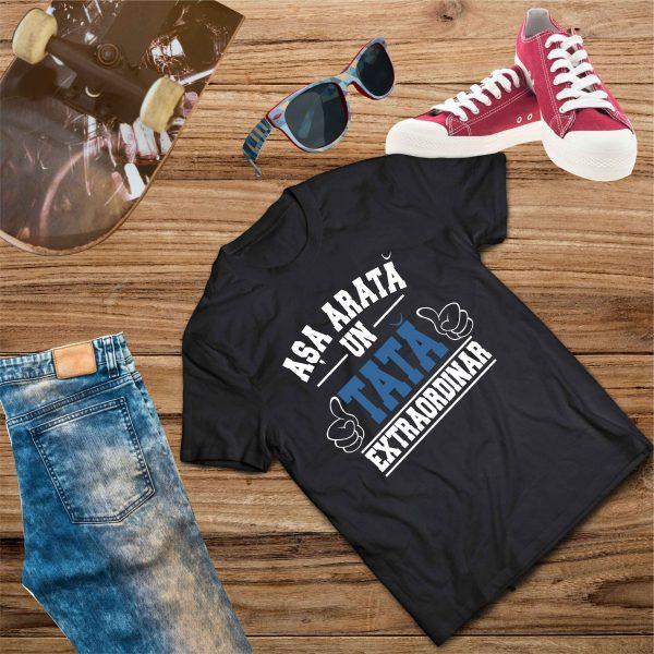 B003 Asa arata un Tata Negru 600x600 Tricou Așa arată un Tată Extraordinar tricouri-personalizate, tricouri-barbati