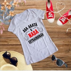D003 Asa arata o Nasa alb 300x300 Tricou Asa arata o Nasa Extraordinara tricouri-personalizate, tricouri-dama
