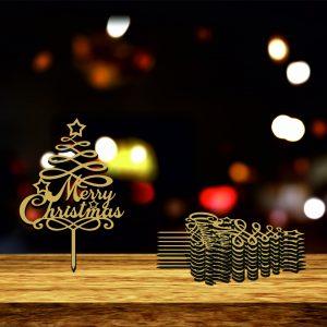 MiniTop010 Merry Christmas 300x300 Mini Topper Merry Christmas 02 set 12 buc mini-topper