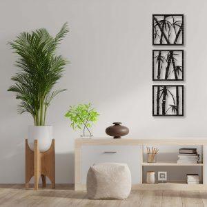 Tablou Bambus wenge 300x300 Tablou lemn Bambus tablouri-decupate-din-lemn